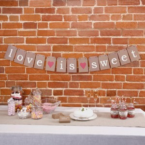 Candy Buffet 'love is sweet' Bunting