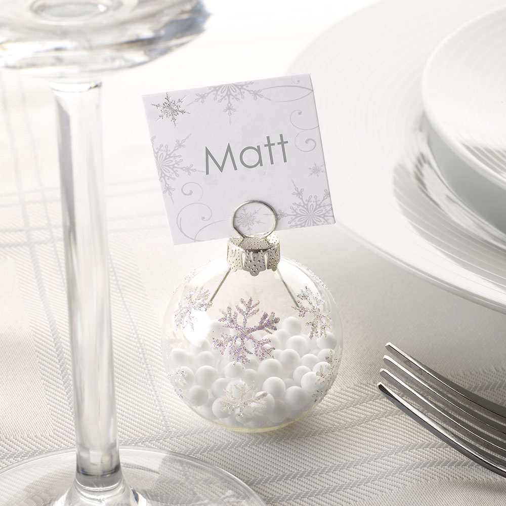 Shimmering Snowflake - Bauble Place Card Holders - 6 Pack   Trade ...