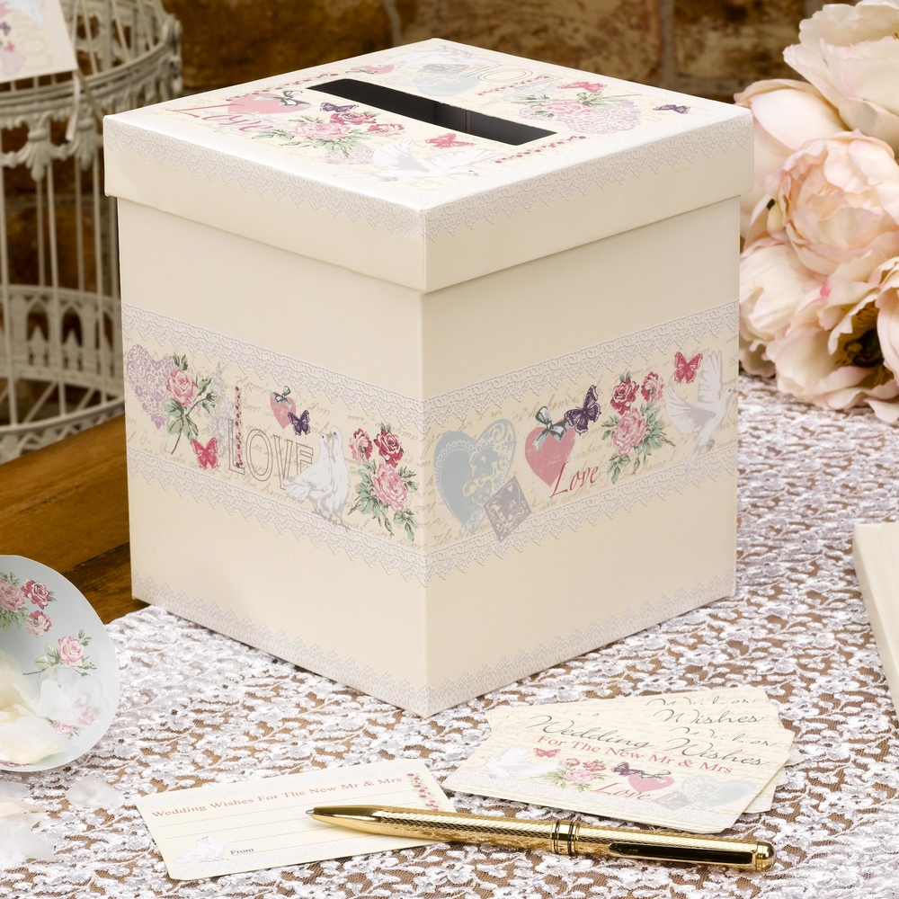 With love wedding wishes box trade wholesale party cscimports with love wedding wishes box m4hsunfo