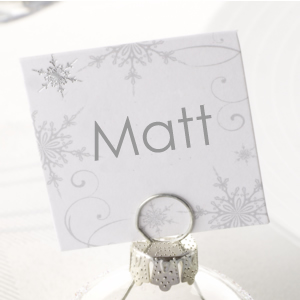 Shimmering Snowflake Place Cards - 10 Pack