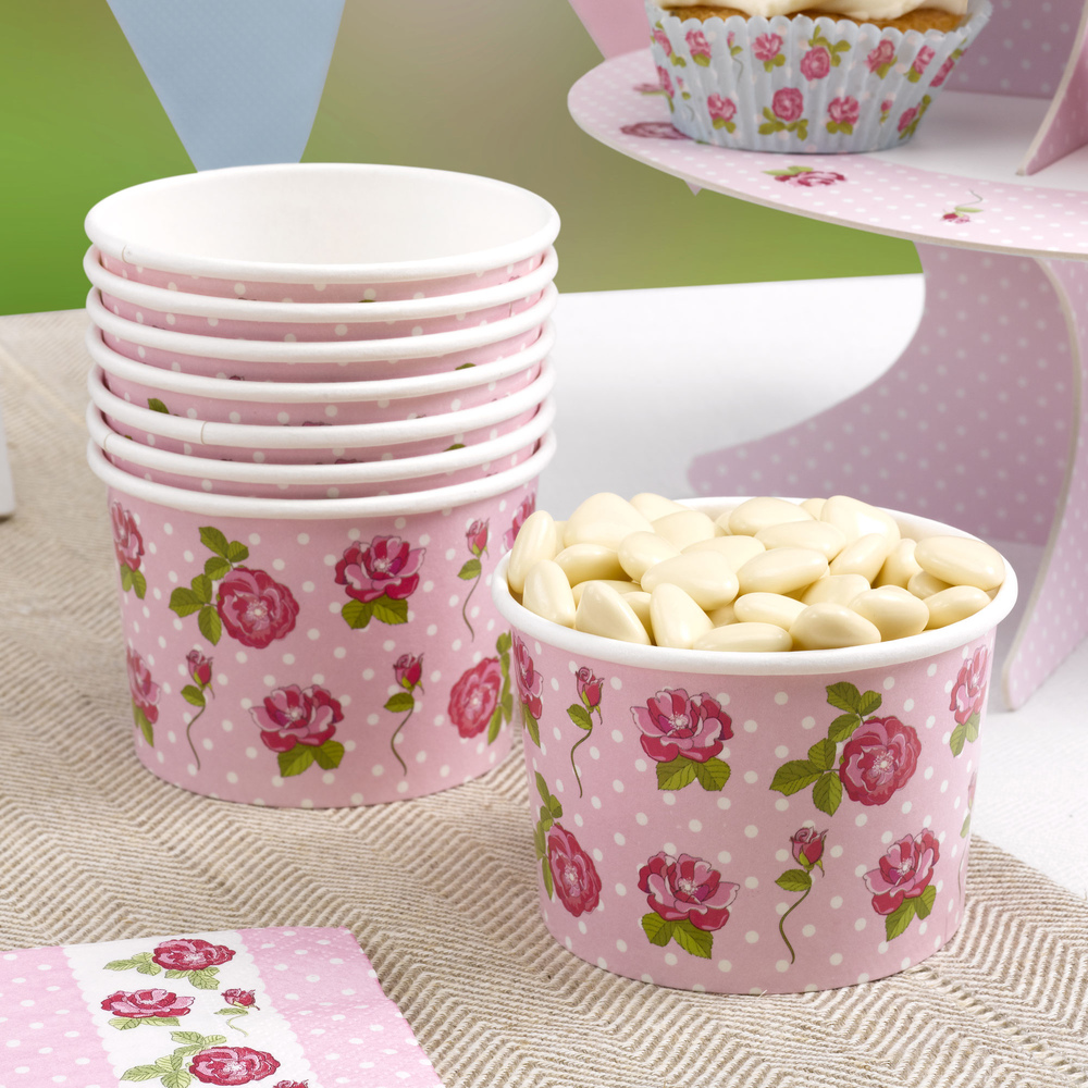 Vintage Rose - Ice Cream Tubs   Trade & Wholesale Party   cscimports